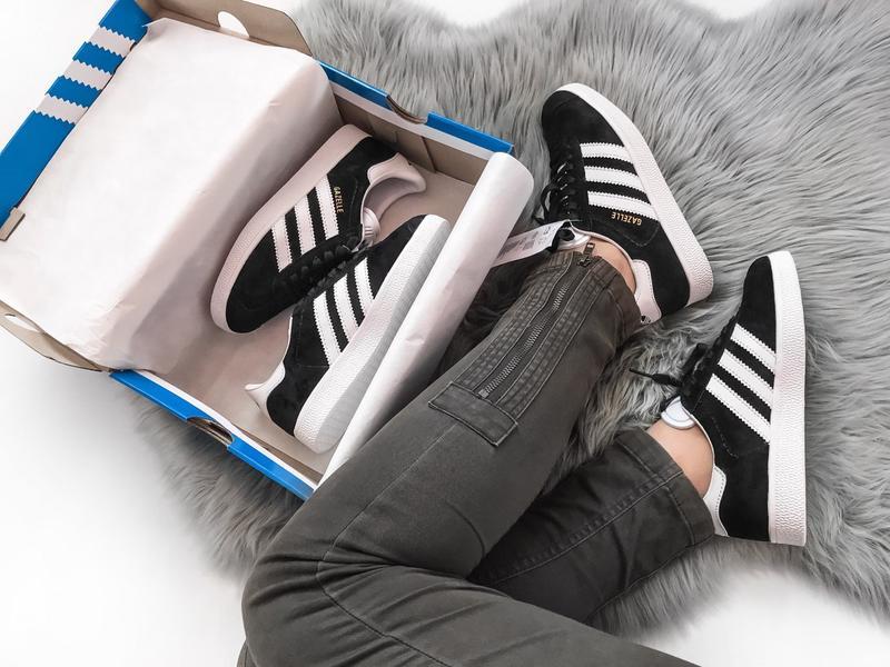 Кроссовки Adidas Gazelle Black - Фото 6