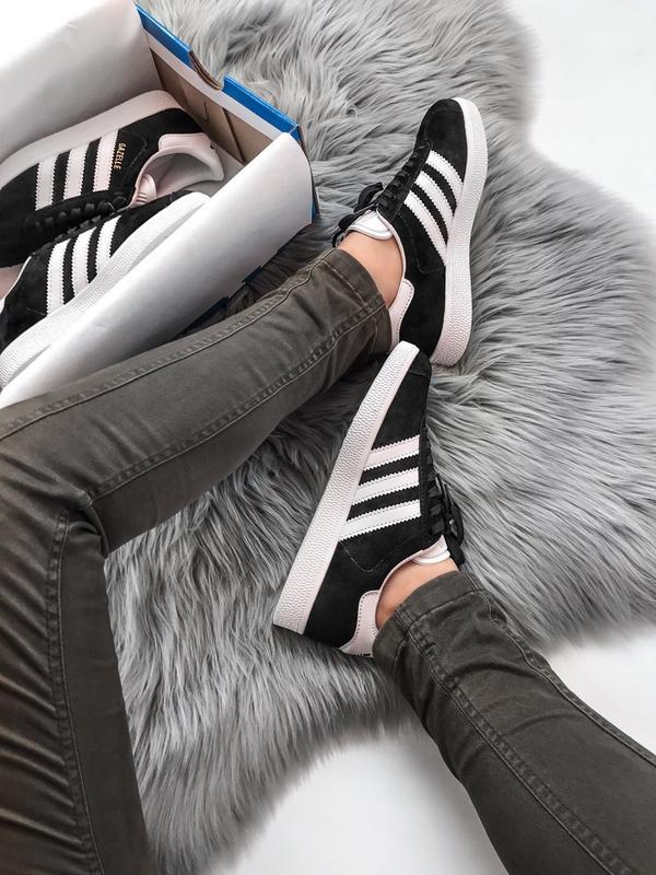 Кроссовки Adidas Gazelle Black - Фото 7
