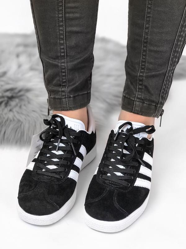 Кроссовки Adidas Gazelle Black - Фото 9