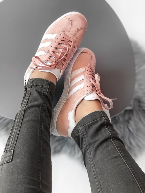 Кроссовки Adidas Gazelle Pink - Фото 5