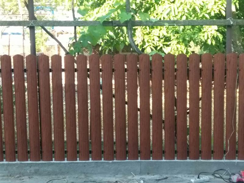 Забор жалюзі, штахети, паркан, штахетник, євроштахетник - Фото 2