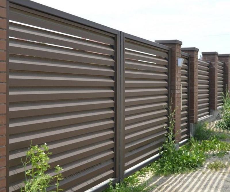 Забор жалюзі, штахети, паркан, штахетник, євроштахетник - Фото 8