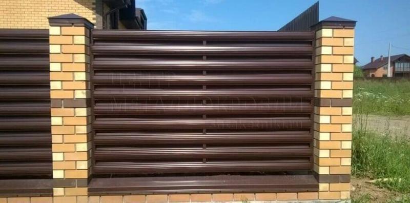 Забор жалюзі, штахети, паркан, штахетник, євроштахетник - Фото 10