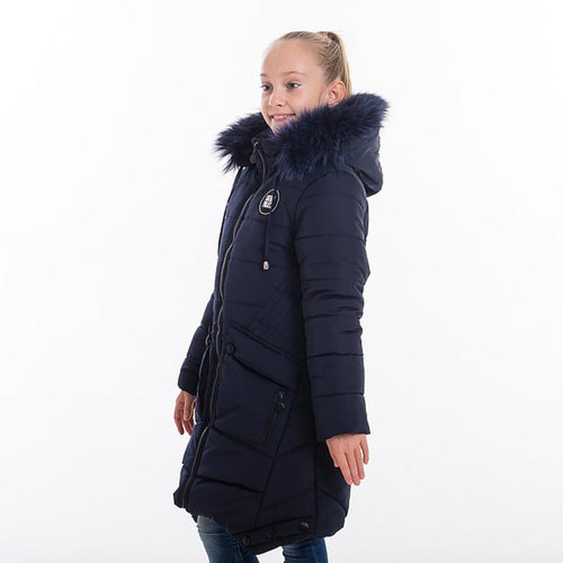 Зимняя куртка-пальто на рост 146-152 см