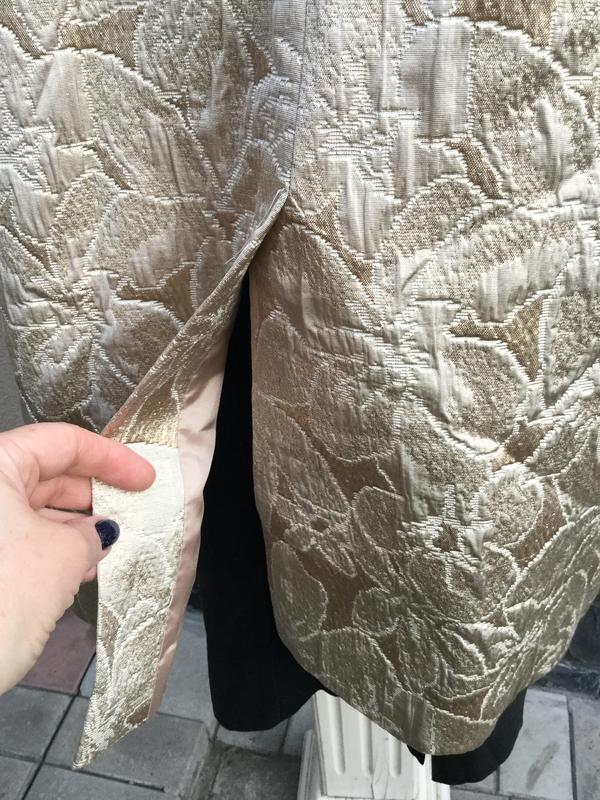 Жаккардовый плащ,тренч,пальто,золотой перелив,хлопок,большой р... - Фото 10