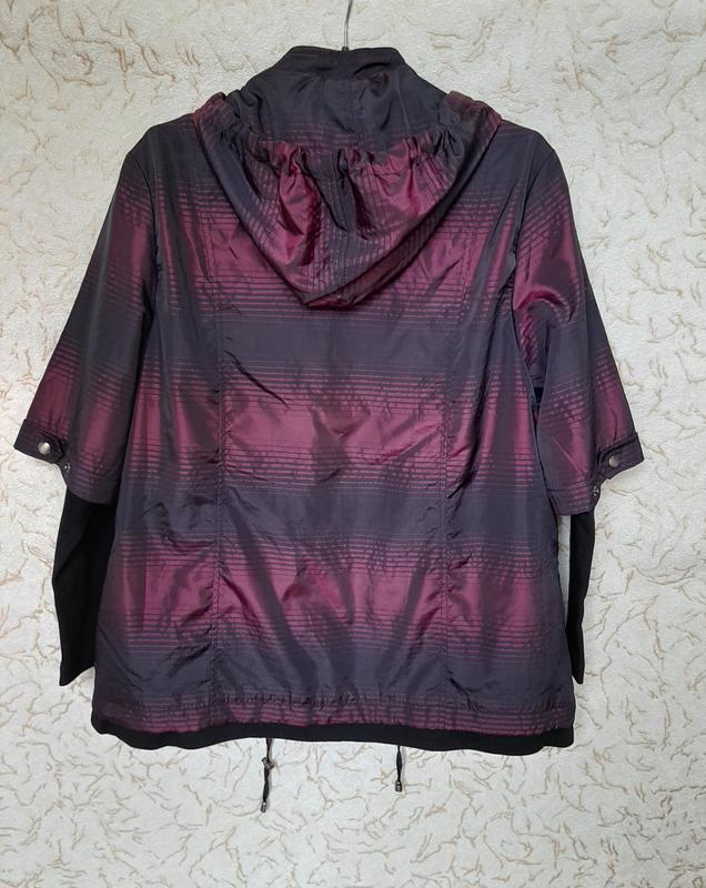 Куртка женская сиреневая демисезонная ветровка на 50 размер - Фото 3