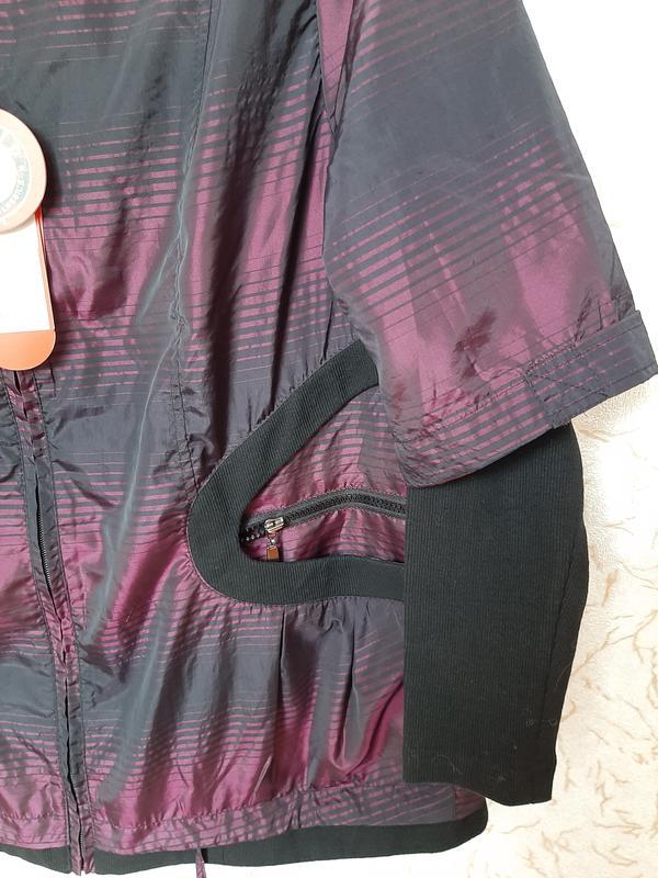 Куртка женская сиреневая демисезонная ветровка на 50 размер - Фото 5