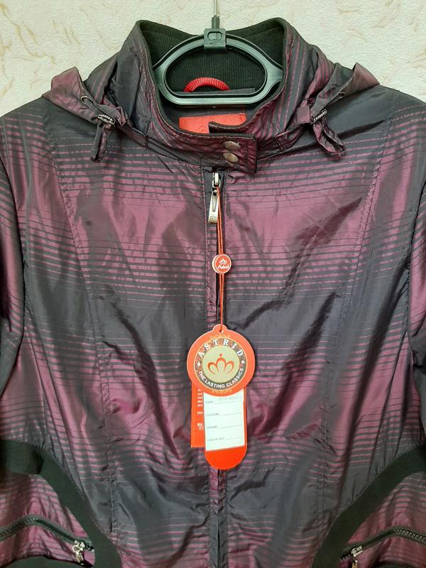Куртка женская сиреневая демисезонная ветровка на 50 размер - Фото 9