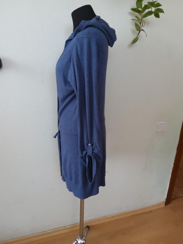 Кофта  кардиган ветровка с капюшоном  f&f раз.10-12 - Фото 3