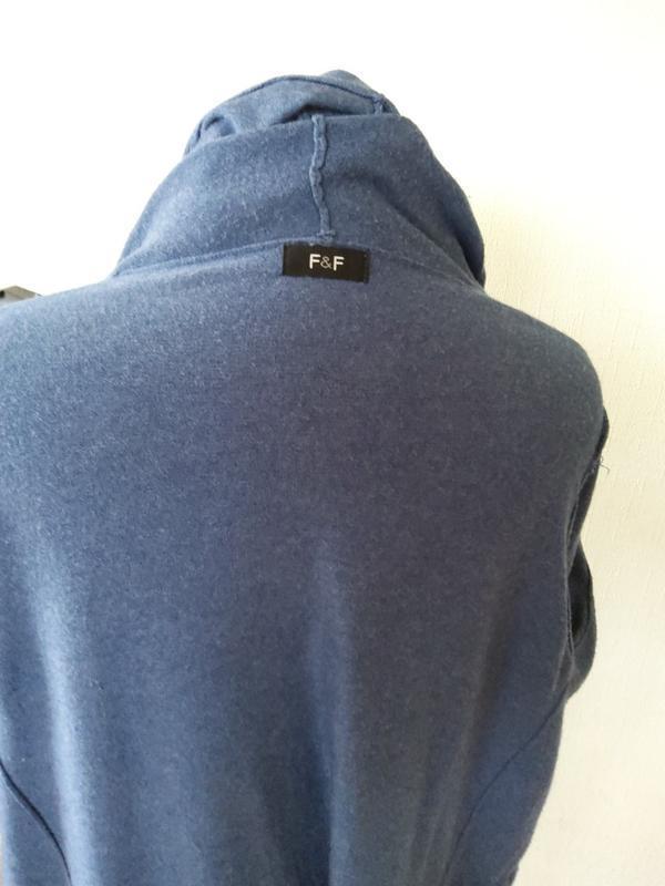 Кофта  кардиган ветровка с капюшоном  f&f раз.10-12 - Фото 5