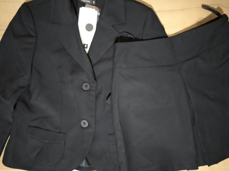 Элегантный пиджак и юбка войчик в школу р140, школьная форма д... - Фото 4