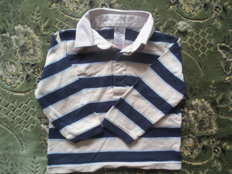 Кофточка для мальчика с рубашечным воротником
