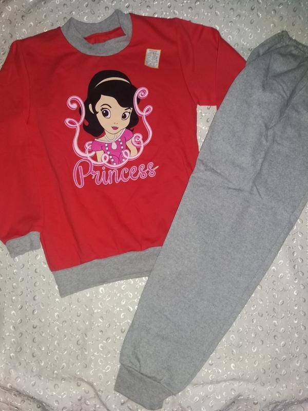 Пижама на девочку с начесом 122р