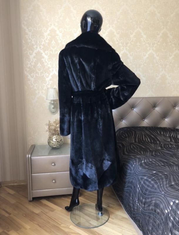 Норковая шуба 120 см li sa fur италия, полустрижка, халат, раз... - Фото 5