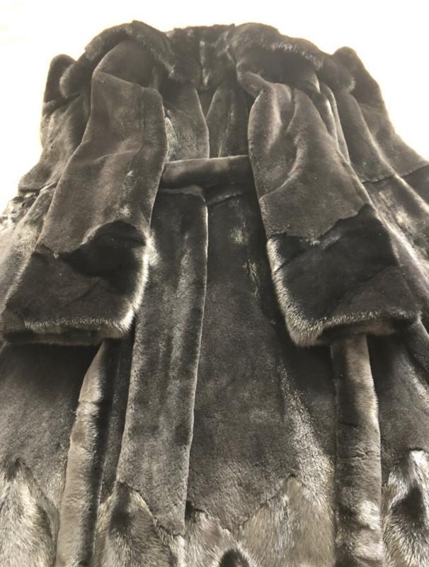 Норковая шуба 120 см li sa fur италия, полустрижка, халат, раз... - Фото 6