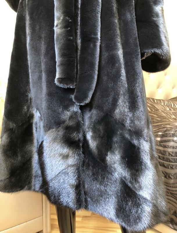 Норковая шуба 120 см бренда li sa fur италия, полустрижка, хал... - Фото 8