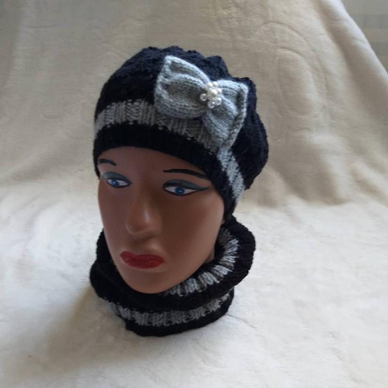 В'язані шапки та берети - Фото 2