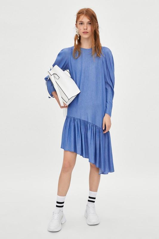 Асимметричное платье  zara