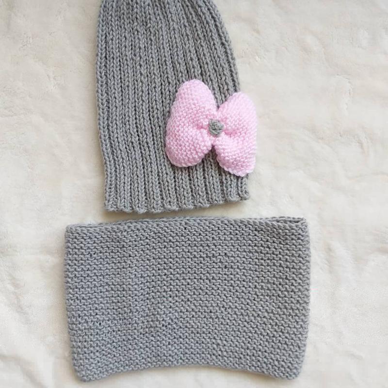 В'язані шапки та берети - Фото 15