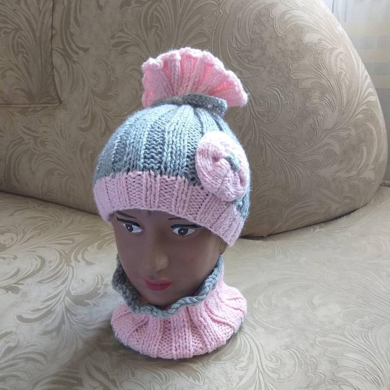 В'язані шапки та берети - Фото 16