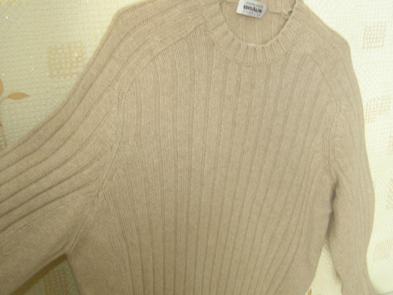 Braun humburg свитер 55% шерсть 30% верблюжья шерсть 15% кашем... - Фото 4