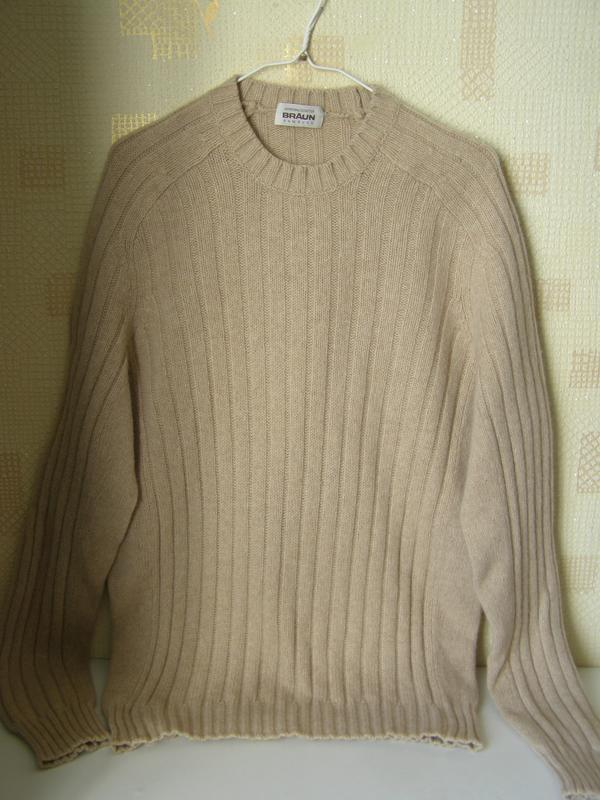 Braun humburg свитер 55% шерсть 30% верблюжья шерсть 15% кашем... - Фото 9