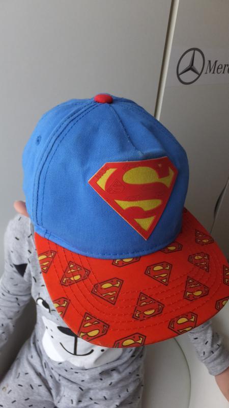 Модная детская кепка супермен superman dc comics на 7 лет - Фото 4