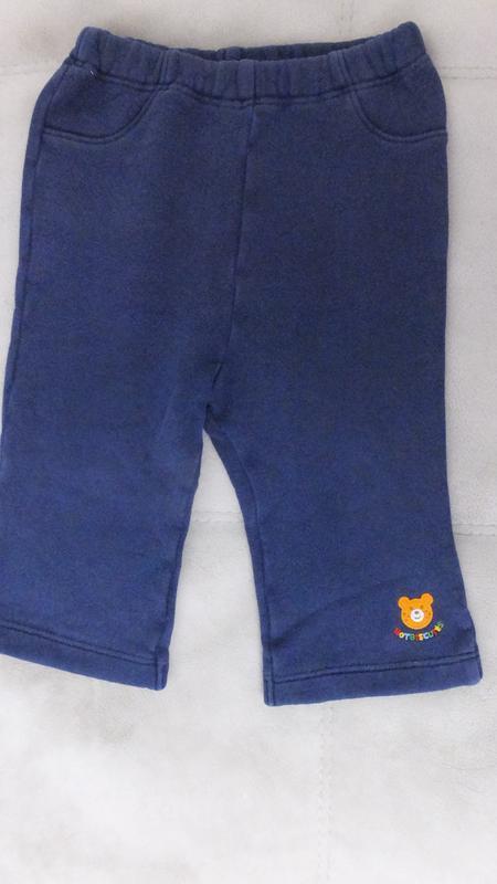 Спортивные штаны с махрой miki house first (япония) разм.80 на...