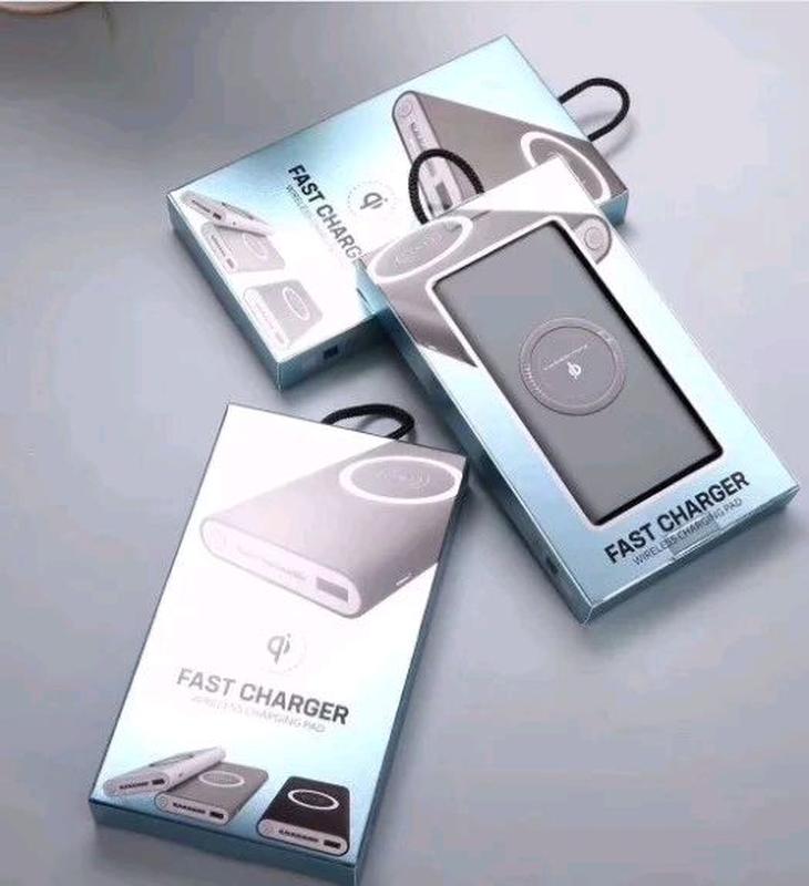 Внешний аккумулятор с беспроводной зарядкой 10000 mAh Power Bank - Фото 3