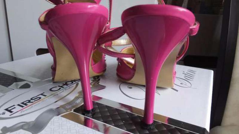 Розовые босоножки grace размер 36, стелька 23 см - Фото 5