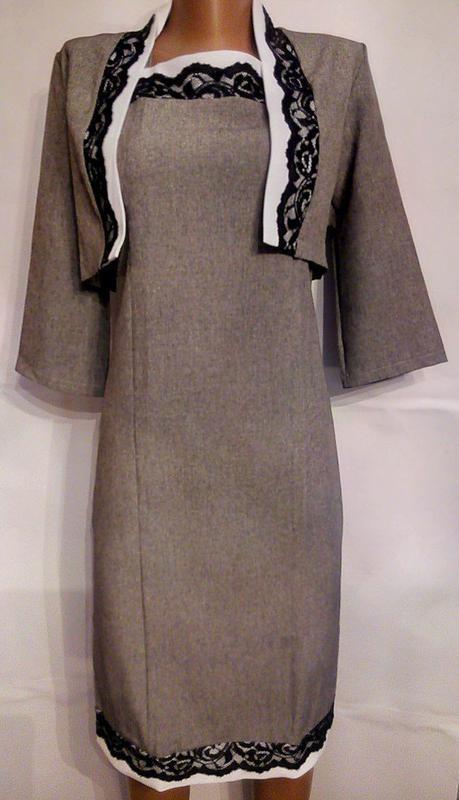 Нарядный костюм платье + болеро  размер 44 - Фото 2