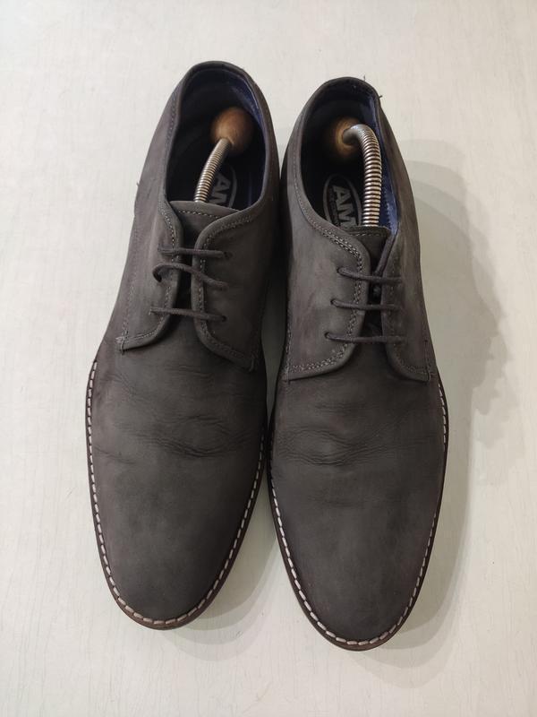 Мужские кожаные туфли дерби, стелька 30,5 см