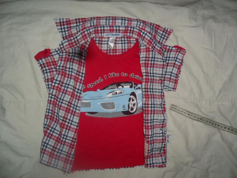 Рубашка обманка для мальчика - Фото 2