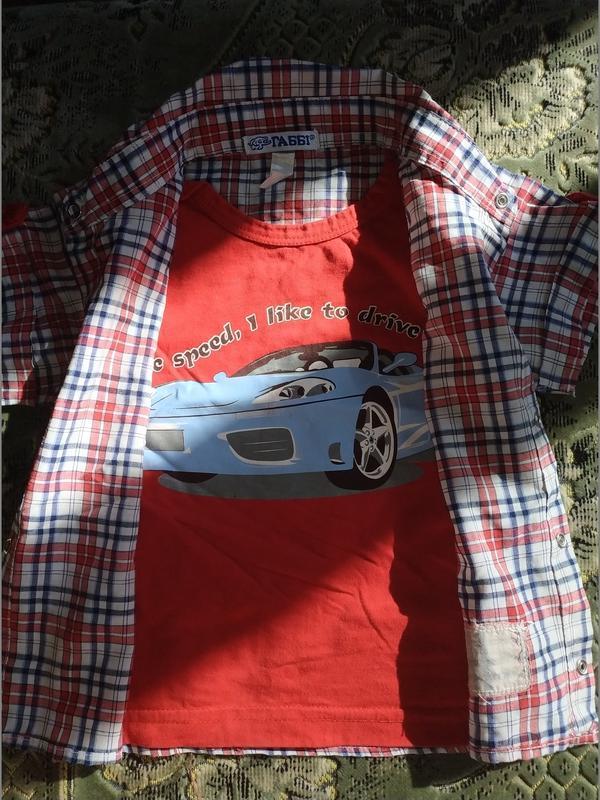 Рубашка обманка для мальчика - Фото 5