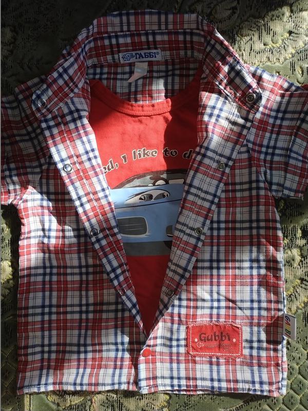 Рубашка обманка для мальчика - Фото 6