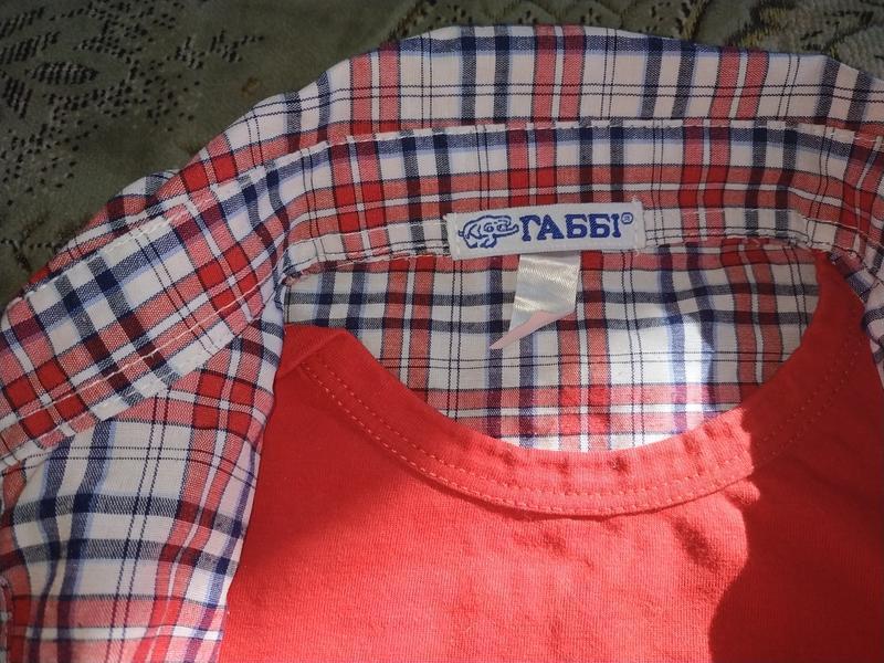 Рубашка обманка для мальчика - Фото 7