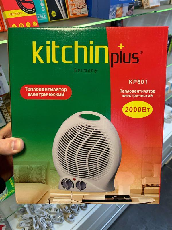 Тепловентилятор электрический, дуйка, обогреватель 2000Вт. - Фото 4