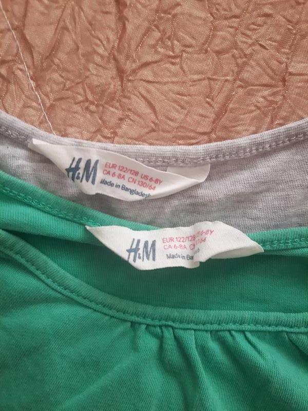 Комплект футболок h&m - Фото 4