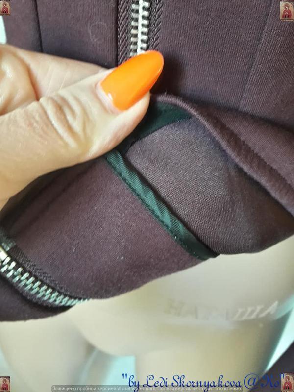 Фирменный h&m пиджак/жакет/кофта с баской в цвете бордо/марсал... - Фото 7