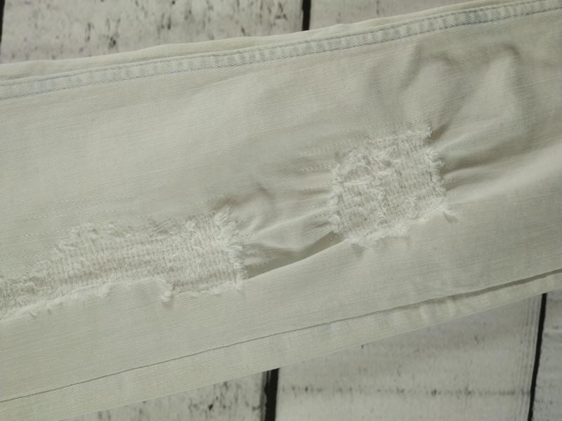 Джинсы светлые узкие с потертостями h&m - Фото 9
