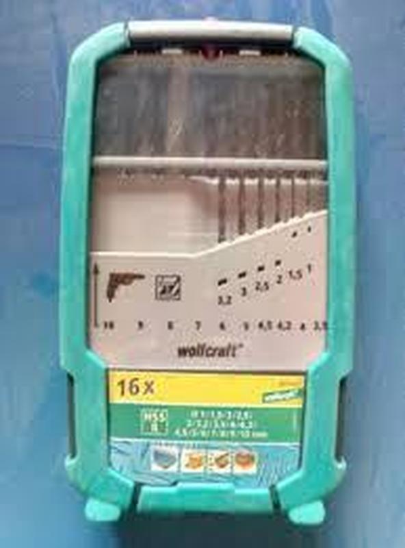 Набор сверл универсальных HSS 16шт. Wolfcraft 8614000 Германия - Фото 3