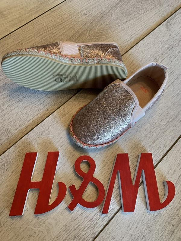 Эспадрильи h&m блестящие - Фото 3