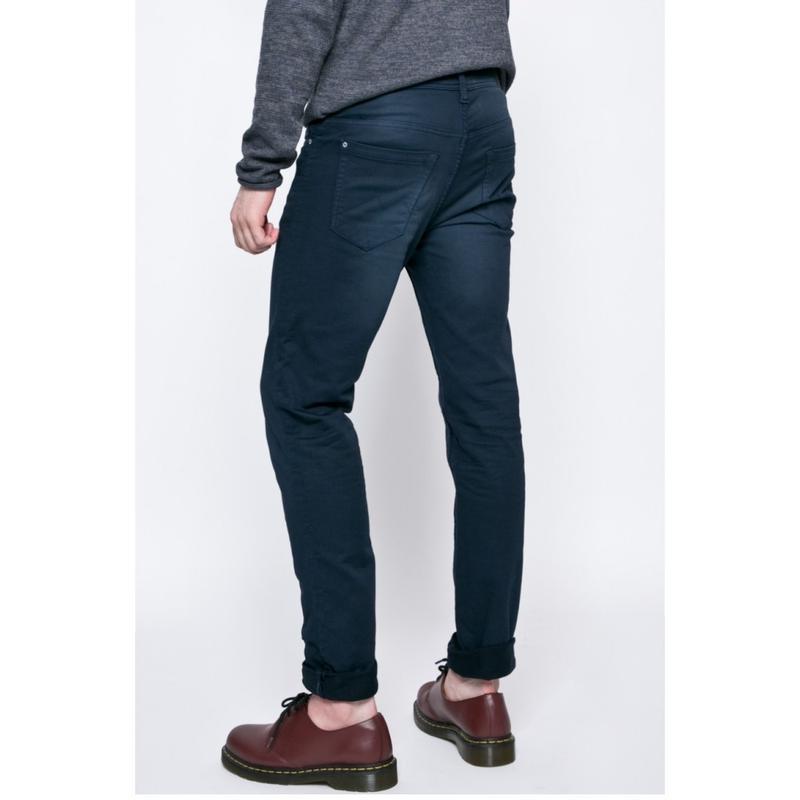 Брюки синие джинсового кроя плотные зауженные blend - Фото 3