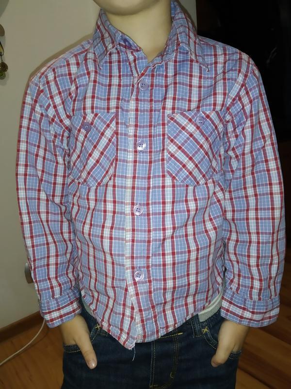 Рубашка теплая с подкладкой на 3-4 годика