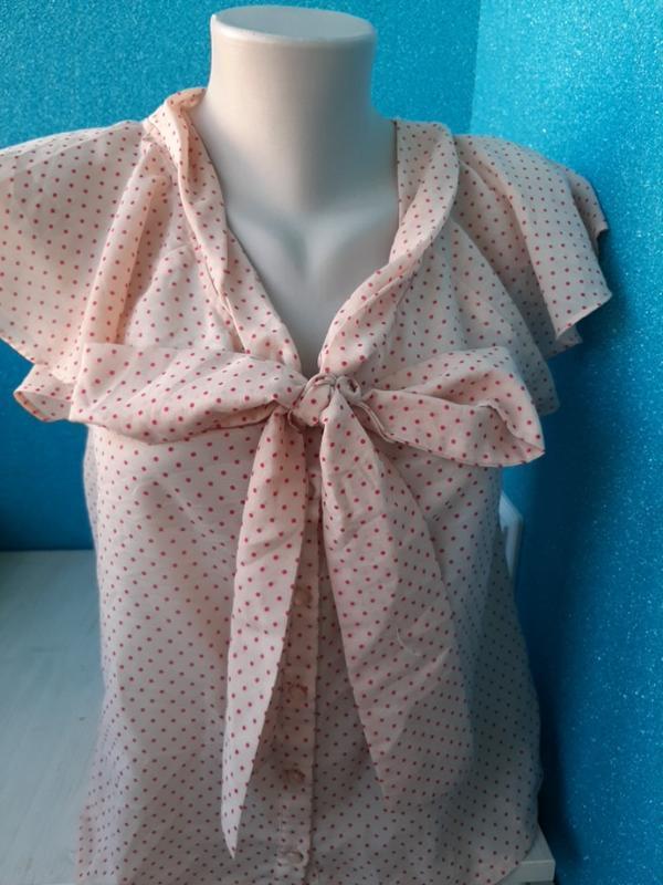 Стильная женская блузка бантик