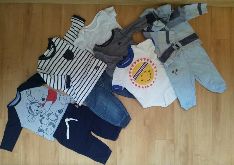 Пакет фирменных вещей для мальчика на 3-6 месяцев