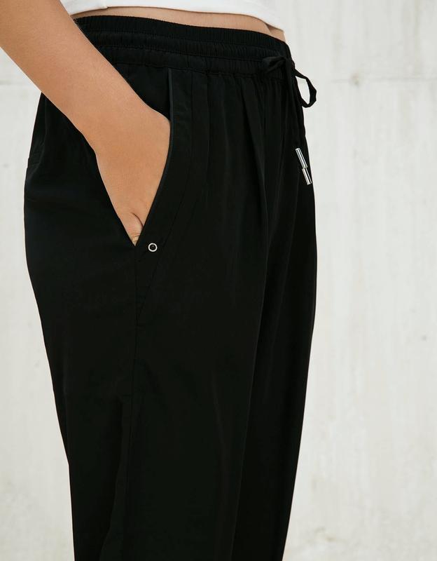 Чёрные штаны бершка з подкатом класика bershka ❤️ - Фото 3
