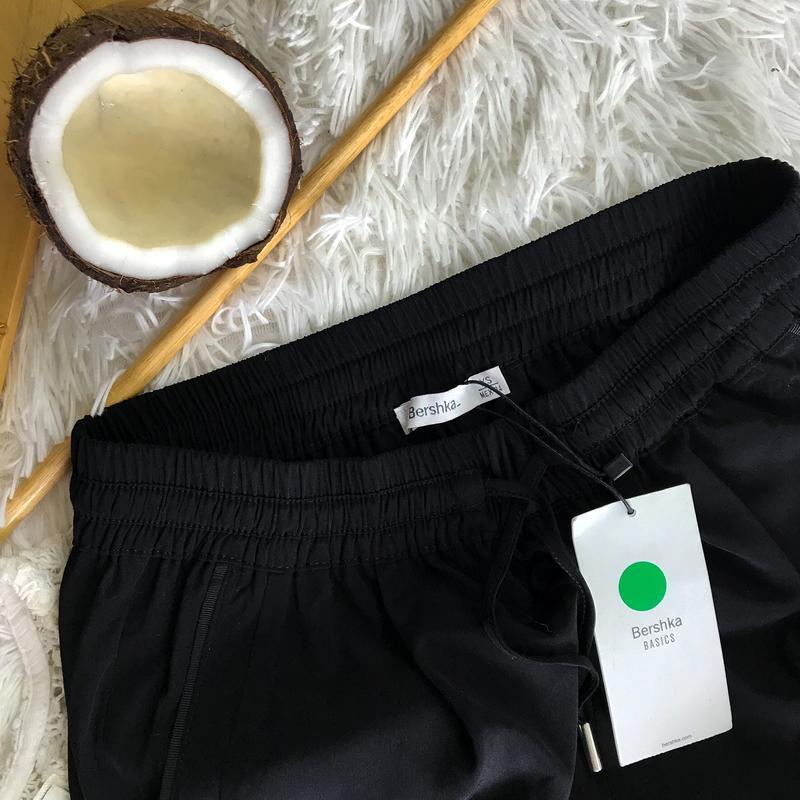 Чёрные штаны бершка з подкатом класика bershka ❤️ - Фото 4
