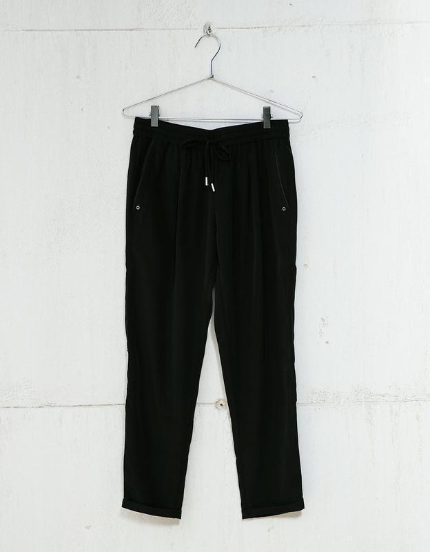 Чёрные штаны бершка з подкатом класика bershka ❤️ - Фото 5