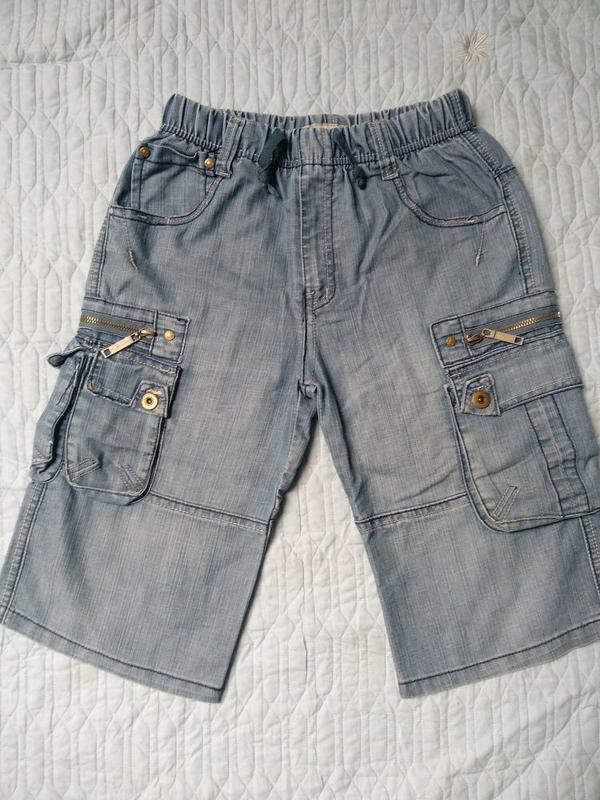 Джинсовые шорты для мальчика 11-12 лет на рост 146-152 см